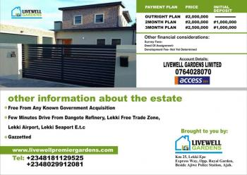 Plot of Land  with Genuine Title, 5mins Drive After Lekki Free Trade Zone, Ogogoro, Ibeju Lekki, Lagos, Mixed-use Land for Sale