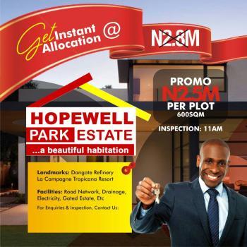 Hopewell Park Estate, Lekki Coastal Road, Lekki Free Trade Zone, Lekki, Lagos, Residential Land for Sale