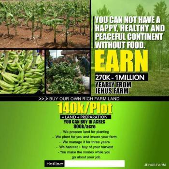 Farm Land/ Farm Management Service Available, Ogere Ishagamu, Sagamu, Ogun, Mixed-use Land for Sale