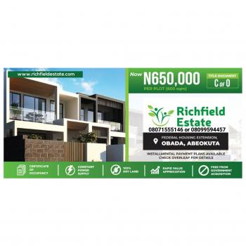 Richfield Estate, Federal Government Housing Extension, Obada Town, Abeokuta South, Ogun, Mixed-use Land for Sale
