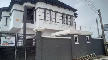 New Immaculate White 4 Bedroom Semi Duplex, By Chevron- Next to 2nd Toll Gate  C, Lafiaji, Lekki, Lagos, Detached Duplex for Sale
