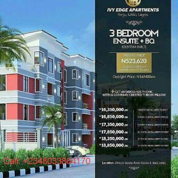 3 Bedroom Apartment, Ivy Edge  Apartments, Off Eleko Beach Road, Eleko, Ibeju Lekki, Lagos, Flat for Sale