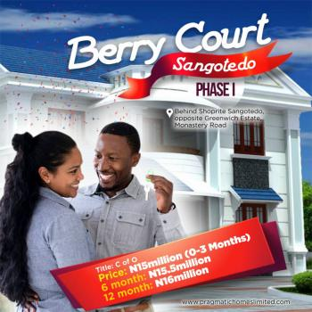 Berry Courts, Opposite Greenwich Estate, Sangotedo, Ajah, Lagos, Residential Land for Sale