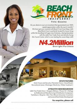 Beach Front Courts, Akodo Ise, Ibeju Lekki, Lagos, Mixed-use Land for Sale