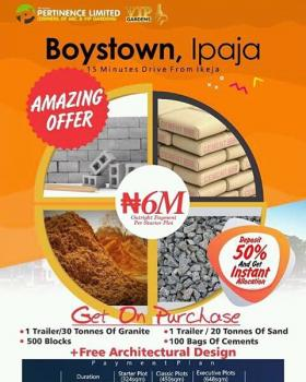 Drone Pictures of Vip Gardens Boystown, Ipaja Road, Boys Town, Ipaja, Lagos, Residential Land for Sale