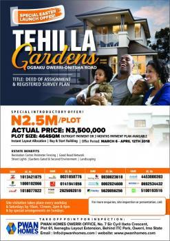 Land, Tehilla Gardens, Ogbaku, Owerri-onitsha Road, Owerri, Imo, Mixed-use Land for Sale