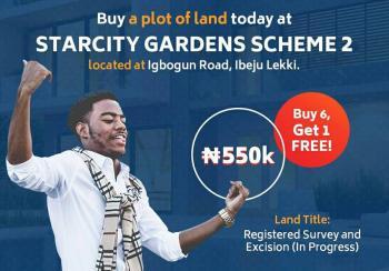 Plots of Land for 550k at Ibeju-lekki: Buy 6 Get 1 Free, Akodo Ise, Ibeju Lekki, Lagos, Mixed-use Land for Sale