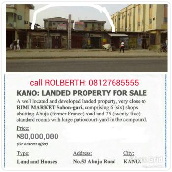Well Located Building Plus Shops, with 25 Rooms and 6 Shops., Abuja Road, Kano Municipal, Kano, Hotel / Guest House for Sale