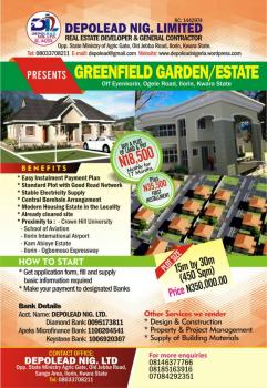 Plot(s) of Land, Burgeoning Greenfield Estate, Ogele, Off Old Ilorin/ogbomoso Express, Ilorin South, Kwara, Mixed-use Land for Sale