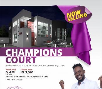 Land, Champions Court, Eleko, Ibeju Lekki, Lagos, Mixed-use Land for Sale