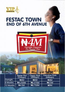 Plots of Land, 6th Avenue, Festac, Isolo, Lagos, Land for Sale