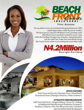 Beachfront Courts, Sharing Boundary with The Lekki Free Trade Zone, and Directly Facing Eko Tourist Center Which Is Overlooking The Ocean, Akodo Ise, Ibeju Lekki, Lagos, Residential Land for Sale