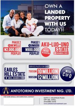 Aku Luo Uno Residential Estate Have a Dry Plots of Land with Survey Plan and Immediate Allocation, Umueri, Anaocha, Anambra, Residential Land for Sale