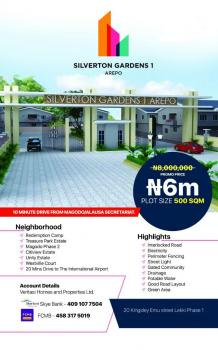 Silverton Gardens 1, Berger, Arepo, Ogun, Residential Land for Sale