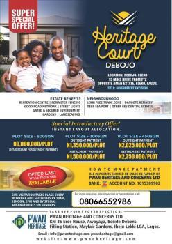 Heritage Court, Debojo (eleko-vi Coaster Road), Eleko, Ibeju Lekki, Lagos, Mixed-use Land for Sale