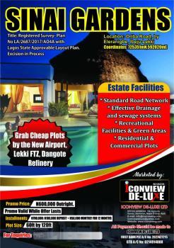 Dry and Legitimate Plots, Oriba Road, Eleranigbe, Ibeju Lekki, Lagos, Mixed-use Land for Sale