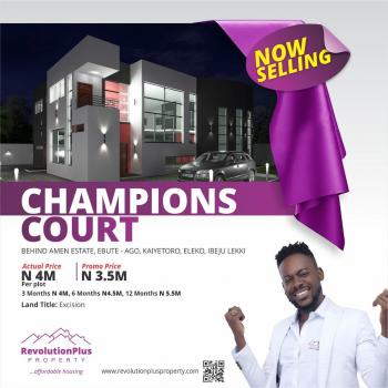 Champions Court, Behind Amen Estate Phase 1, Along Kaiyetoro Road, Eleko, Ibeju Lekki, Lagos, Residential Land for Sale