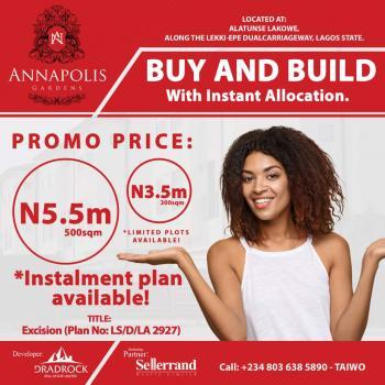 Annapolis Gardens, Alatunshe Lakowe, Along Lekki Express Way, Alatise, Ibeju Lekki, Lagos, Residential Land for Sale