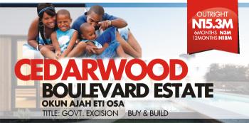 Cedarwood Boulevard Estate, Cedar Wood Boulevard, New Lekki Scheme (2), Eti Osa, Abraham Adesanya Estate, Ajah, Lagos, Residential Land for Sale