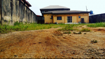 Land Measuring 839.636sqm Fenced Round with a 3bedroom Bungalow Setback in Medina Estate, Gbagada., Community Str, Medina Estate Gbagada, Medina, Gbagada, Lagos, Residential Land for Sale
