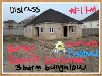 3 Bedroom Bungalow Carcass, Karsana, Abuja, Detached Bungalow for Sale