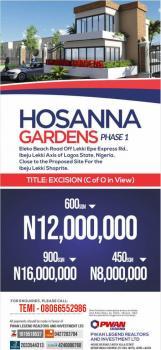 Hossana Gardens, Eleko, Ibeju Lekki (besides Amen Estate), Eleko Beach Road, Off Lekki Epe Expressway Road, Eleko, Ibeju Lekki, Lagos, Mixed-use Land for Sale