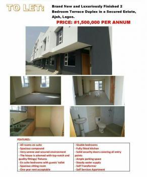 Luxury 2 Bedroom Terrace Duplex, Beside Lekki Garden Phase 2, Ajah, Lagos, Terraced Duplex for Rent