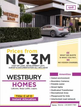 Westbury Homes Is Most Habitable with Access to Various Amenities, Westbury Homes, Beachwood Estate ., Bogije, Ibeju Lekki, Lagos, Residential Land for Sale