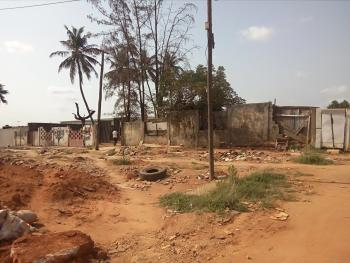 5391sqm Land Fully Fenced  with a Demolish-able Uncompleted One Floor Structure Along International Airport Road,ikeja Lagos, Along International Airport Road, Ikeja, Lagos, Commercial Land for Sale