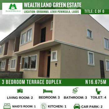 Luxury 3 Bedroom Terrace Duplex(all Rooms En Suite with an Attached Bq), Oribanwo, Ibeju Lekki, Lagos, Terraced Duplex for Sale