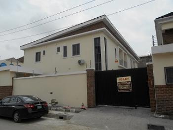Partly Furnished 4 Bedroom Duplex with a Bq, Pioneer Street, Osapa, Lekki, Lagos, Semi-detached Duplex for Rent