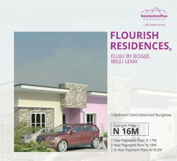 3 Bedroom Semi Detached Bungalow, By Bogije, Eluju, Ibeju Lekki, Lagos, Semi-detached Bungalow for Sale