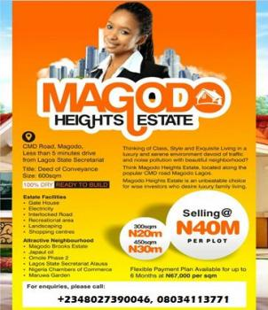Plots Available in a Very Good Estate Land  (prime Location), About 5 Min. Drive From Secreteriat, Gra, Magodo, Lagos, Residential Land for Sale