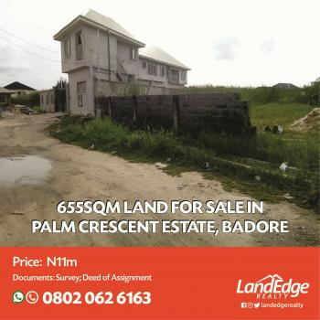 Dry Land, Palm Crescent Estate, Badore, Ajah, Lagos, Residential Land for Sale