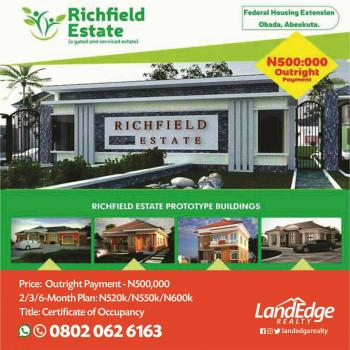 Richfield Estate, Federal Housing Extension, Obada, Abeokuta with C of O, Federal Housing Estate Extension, Obada, Abeokuta South, Ogun, Mixed-use Land for Sale