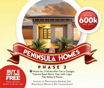 Peninsula Homes Estate Phase2 (buy 6plots Get 1 Plot Free), Free Trade Zone Express Road, Lekki Free Trade Zone, Lekki, Lagos, Residential Land for Sale