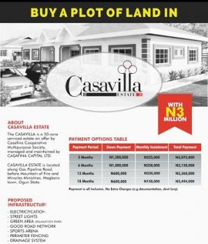 Plots of Land, Casavilla Estate, Behind The Punch News Paper, Magboro, Ogun, Residential Land for Sale