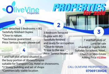 7 and Half Plots of Land, Gra, Ogudu, Lagos, Mixed-use Land for Sale