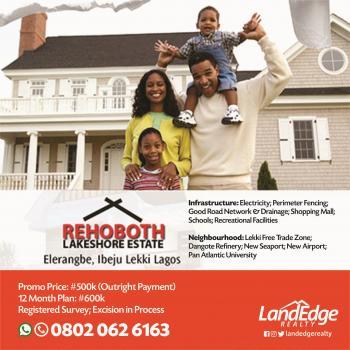 Rehoboth Lakeshore Estate, Eleranigbe, Ibeju Lekki, Lagos, Mixed-use Land for Sale