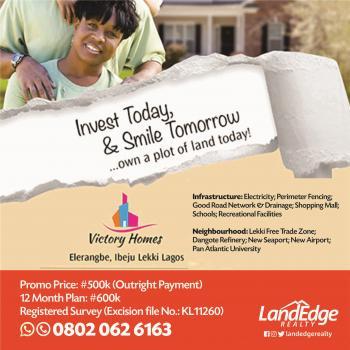 Victory Homes Estate, Eleranigbe, Ibeju Lekki, Lagos, Residential Land for Sale