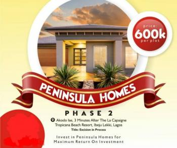 Peninsula Home Phase 2, Excision  in Process, 4 Minutes' Drive From La Campaign Tropicana Beach Resort, Akodo Ise, Ibeju Lekki, Lagos, Mixed-use Land for Sale
