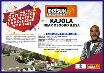Orisun Estate, Kajola, Along Osogbo, Ilesa East, Osun, Residential Land for Sale