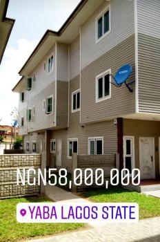 New 4 Bedroom Terrace House on 3 Floors + Bq Within a Serviced & Organized Estate, Off Herbert Macaulay Way, Yaba, Lagos, Terraced Duplex for Sale