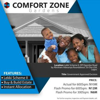 Land with Approved Excision, Off Ogonbo Road, By Abraham Adesanya Roundabout, Lekki Phase 2, Lekki, Lagos, Residential Land for Sale