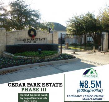 Residential Plots for Sale at Cedar Park  Estate , By Lbs, Ajah, Cedar Park  Estate,  Near Lagos Business School, Abraham Adesanya Estate, Ajah, Lagos, Residential Land for Sale