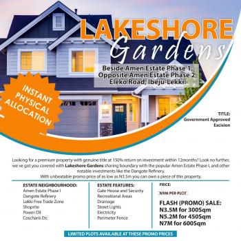 Land with  Excision for Sale at Eleko Ibeju Lekki, Besides Amen Estate Phase 1, Opposite Amen Estate Phase 2 and in The Same Neighbourhood with Dangote Refinery, Lekki Free Trade Zone and New International Airport, Eleko, Ibeju Lekki, Lagos, Residential Land for Sale