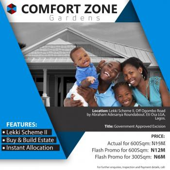 Buy Plots of Land (government Approved Excision), Okun Ajah, Off Ogombo Road By Abraham Adesanya Roundabout, Lekki Phase 2, Lekki, Lagos, Residential Land for Sale