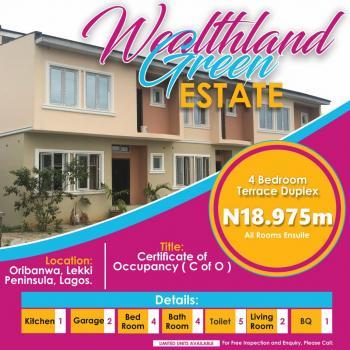 4 Bedroom Duplex, Oribanwa, Ibeju Lekki, Lagos, Terraced Duplex for Sale