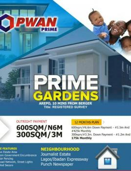 Prime Gardens, Arepo By Berger, Prime Gardens Is at Arepo, 2 Min After Berger, Onigbongbo, Maryland, Lagos, Residential Land for Sale