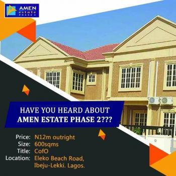 Land for Sale (amen Eatate Phase 2), Eleko, Ibeju Lekki, Lagos, Residential Land for Sale